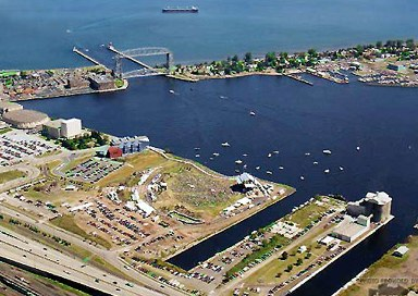 Aerial view of festival grounds & site